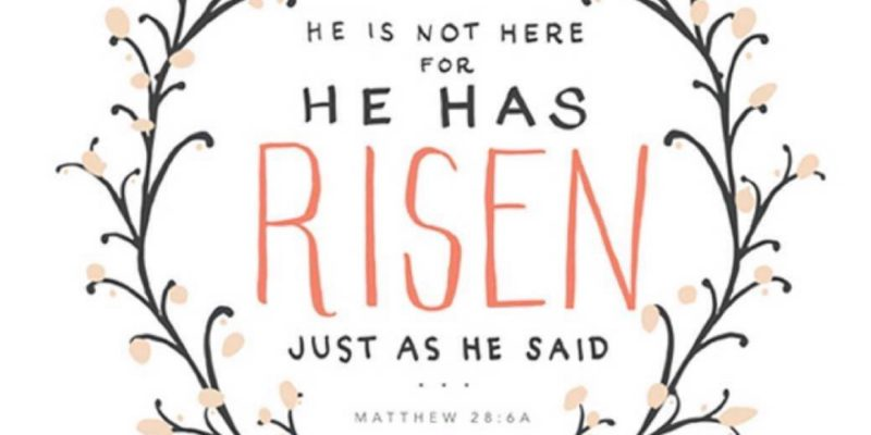 Happy Easter… He has Risen